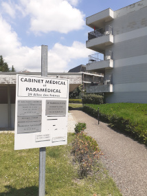 Vue du cabinet médical Echirolles